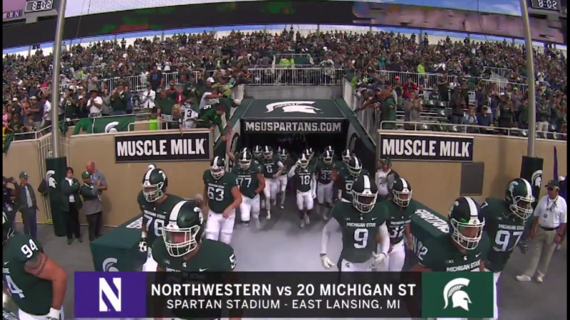 NCAAF 2018 Week 06 Northwestern Wildcats 20 Michigan State Spartans 2Н EN