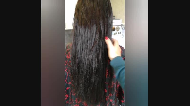 Кератин на Нарощенных волосах.mp4