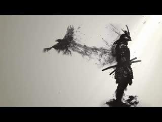 Эпический самурай с вороной / epic samurai with crow