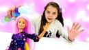 Барби испачкалась в муке моем голову с пеной и красим волосы Игры для девочек Салон красоты