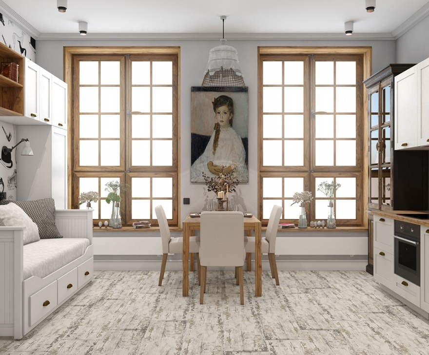 Дизайн-проект квартиры-студии 25 м для девушки.