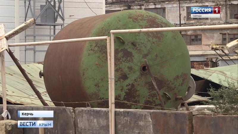 На керченской ТЭЦ разорвало резервный водонакопитель