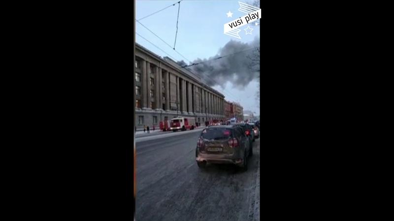 Пожар в здании арбитражного суда Санкт Петербург