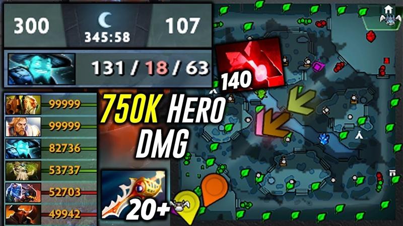 5 Hours GAME   300 - 107   750 000 Hero Damage   131 KILLS Storm Spirit   Epic Dota 2
