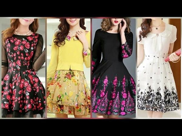 Gorgeous beautiful floral chiffon skirt dresses for girlsmidi dress