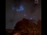 Загадочные огни в небе над Москвой