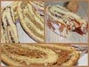 Дрожжевые штрудли с орехами и вареньем Sočna štrudla sa filom od oraha ili marmelade