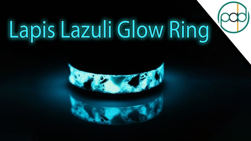 Making a Glowing Obsidian, Lapis Lazuli, Silver, and Gold Ring