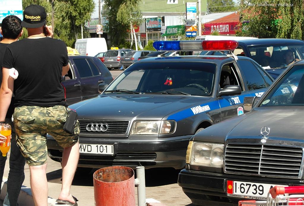 Полицейская Ауди, Чолпон-Ата 2018