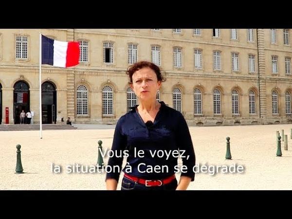 Christelle Lechevalier rend compte du chaos migratoire qui frappe Caen Ouistreham et leurs environs
