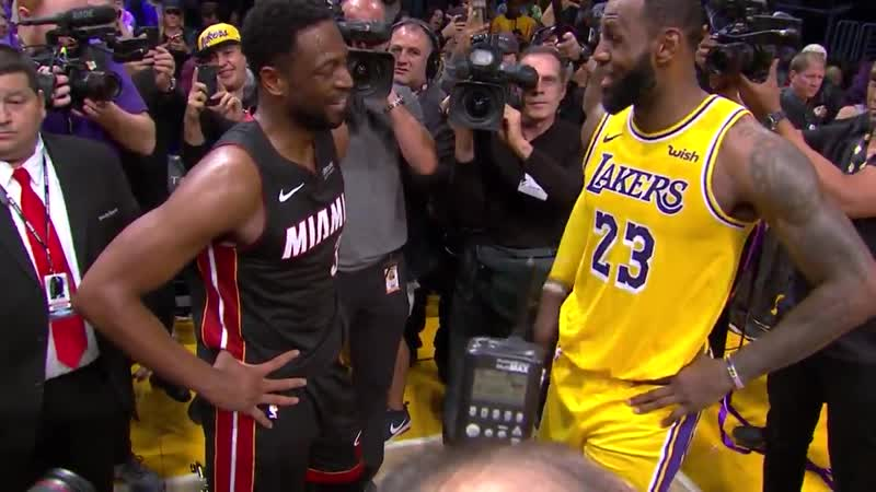 D Wade thanks Bron for letting them have their final showdown at Staples