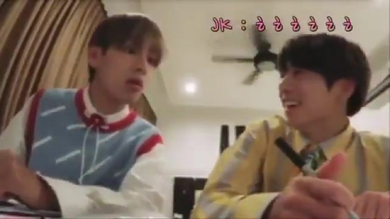 Taehyung asking jungkook if there was a shark and jungkook giggling after that must be one of the most precious things ever
