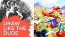 How to Draw like Steve Rude, Master Illustrator Comic Artist (1of2)