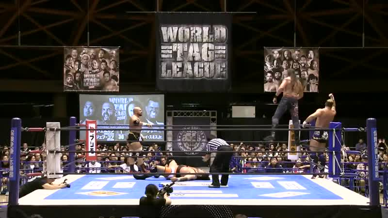 [My1] NJPW World Tag League 2018 (День 3) - Jeff Cobb Michael Elgin vs. Killer Elite Squad (Davey Boy Smith Jr. Lance Arche