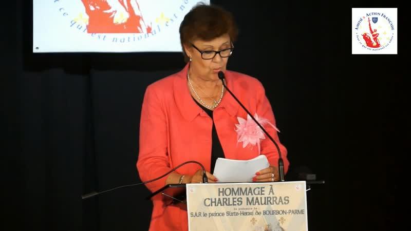 Hommage des 150 ans de la naissance de Charles Maurras - Marion Sigaut