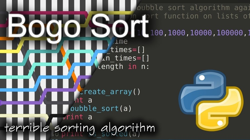 Bogo Sort: Background Python Code