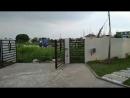 Black swing gate opener