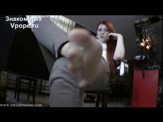 Goddess Victoria Nylon feet, Smell feet (Ножки, Фетиш, Фут, Foot, Fetish, Чулки, Legs, Секси)