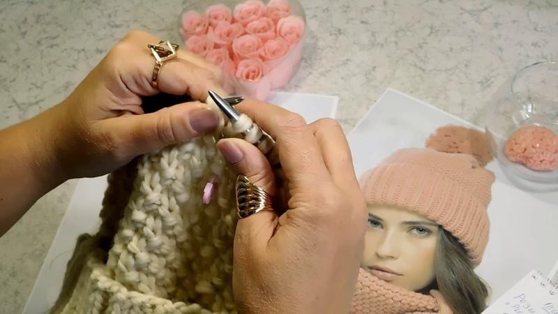 Вязание объемной шапки из толстой пряжи. Мастер класс по вязанию шапки