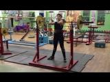 Попова Юля присед на груди 55 кг на 3 !!! 2007 г р. вес 55 кг
