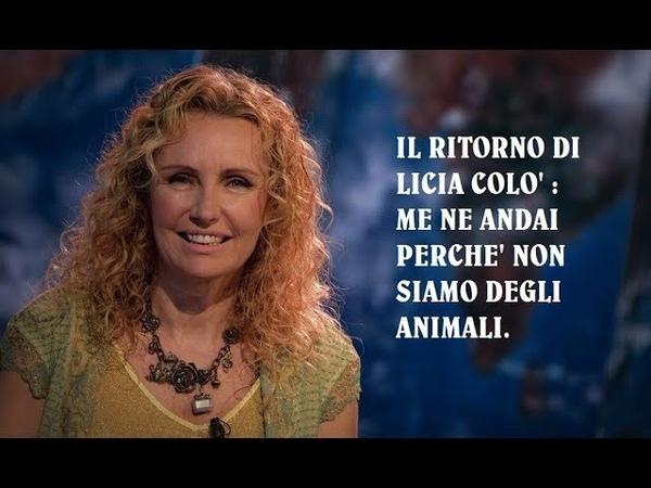 Non siamo come gli animali.ECCO Perché me ne andaiRai, Licia Colò confessa prima di ...