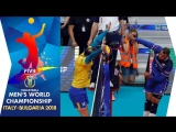 Incredible moments Mens Volleyball World Championship 2018. stage 1.