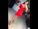 Обзор: красное мини платье, размер 42-44