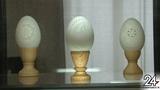 Резьба по яичной скорлупе и макеты со сценами из сельской жизни