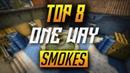 TOP 8 INFERNO ONE WAY SMOKES *NEW* - CSGO (2018)