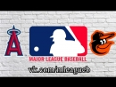 Los Angeles Angels vs Baltimore Orioles 01 07 2018 AL MLB 2018 3 4