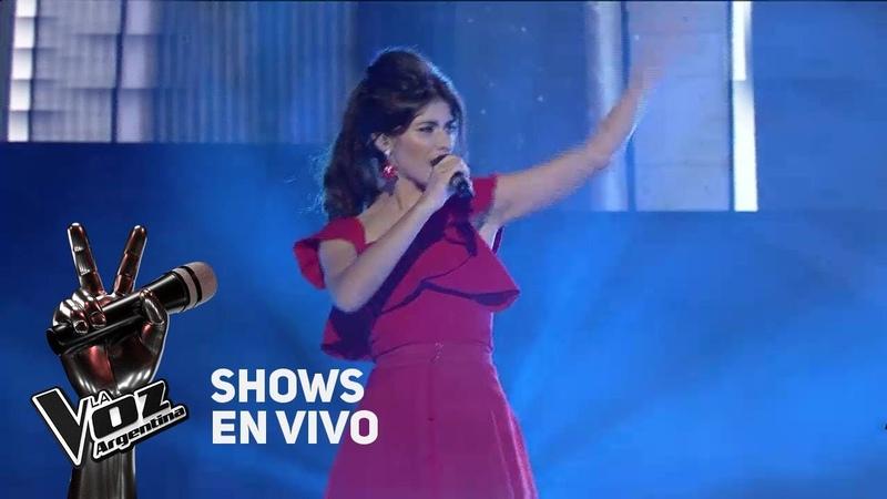 Shows en vivo TeamTini Juliana canta Fighter de Christina Aguilera - La Voz Argentina 2018