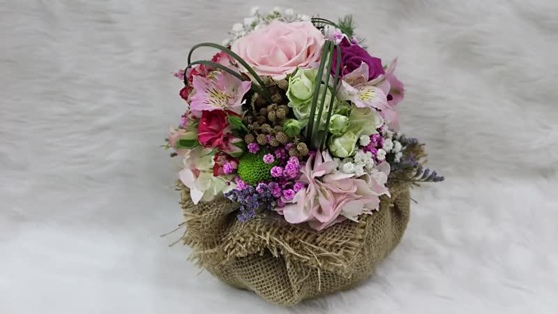 Flower Vase With Rice Sacks __ how to make flower vase with natural flower __ fl