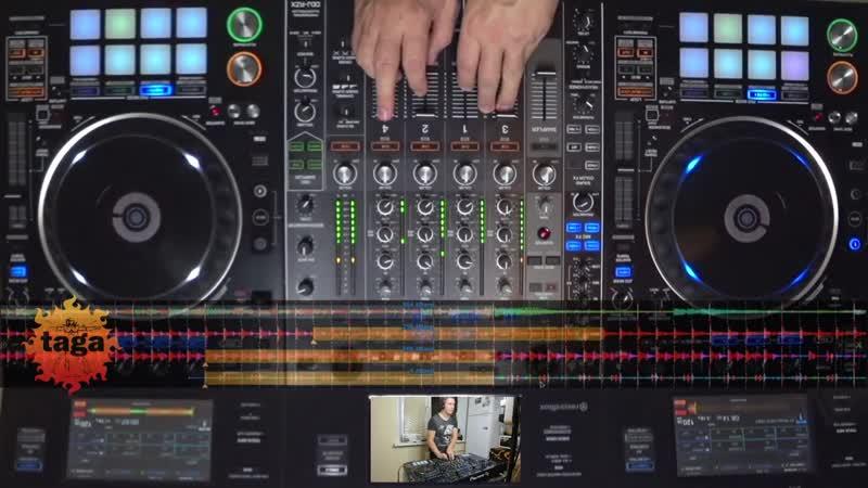 DJ MIX CONTROLLER PIONEER DDJ RZX TIPS TRICKS DJ TAGA TECHNO REKORDBOX