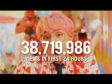 BTS IDOL MV has now the biggest debut of any video in YouTube history, achieving 56.2 MILL