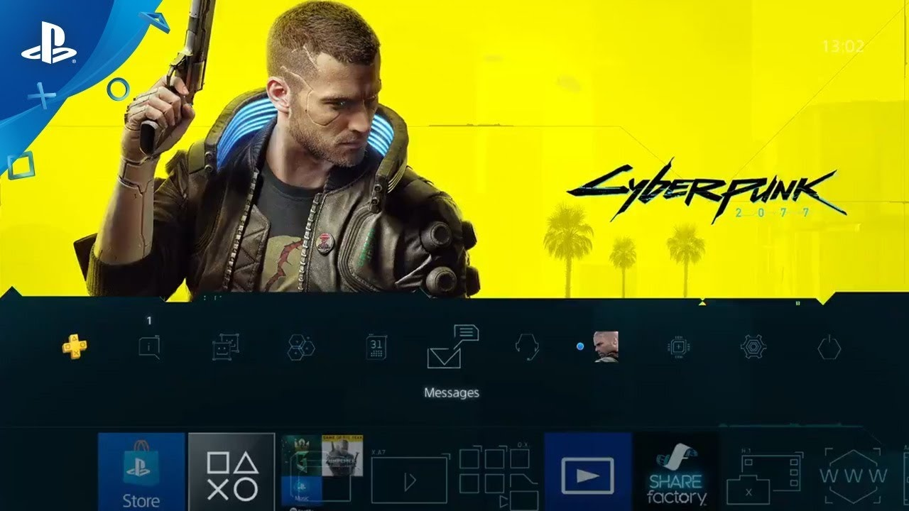Тема Cyberpunk 2077 на PlayStation 4