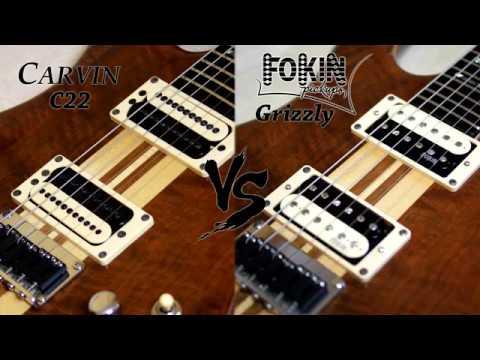 Carvin C22BC22J VS Fokin Grizzly pickups comparison