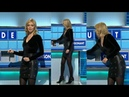 Rachel Riley Monday 6th Feb 2017 Leather skirt and studded boots