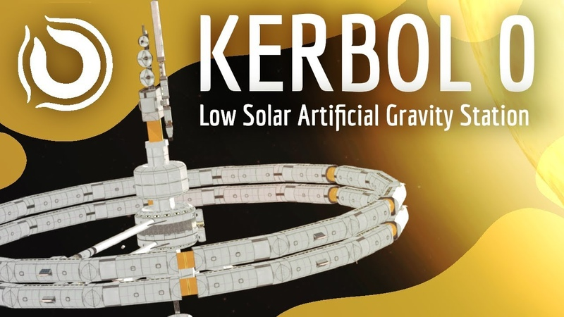 KERBOL 0 | 100% Stock Low Solar Artificial Gravity Station | KSP 1.6