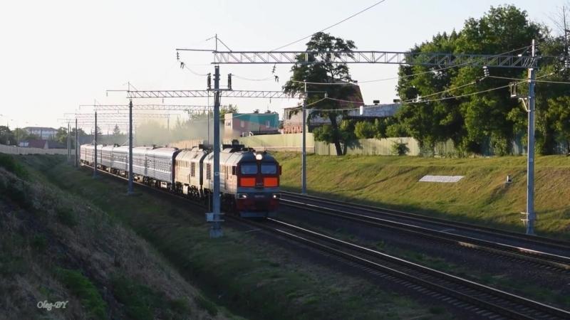 2М62У-0032 с поездом № 076 Гомель — Москва