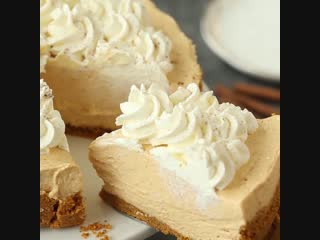 Tasty - No Bake Pumpkin Cheesecake или Чизкейк с тыквой без выпечки 😍👍