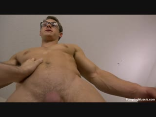 Daniel muscle worshipped and gets an erection