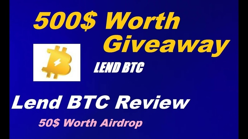 500 Dollar Worth Tokens Giveaway | LendBTC ICO Review | Must Watch and Share