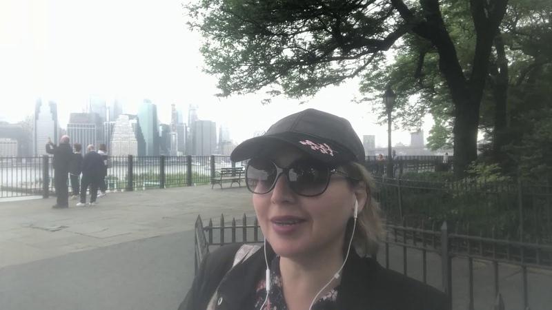AmazingAmerica. Смотровая площадка на Манхеттен - Brooklyn Heights