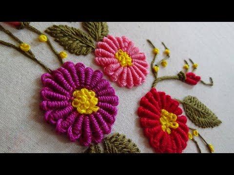 Hand Embroidery Cone Bullion Knot Stitch