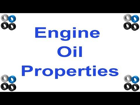 Engine Lubrication Oil Properties