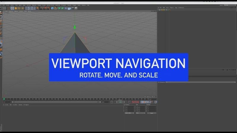 CINEMA 4D Back to Basics Viewport Navigation