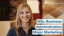MSc Business Administration - Major Marketing