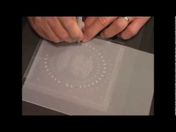 PCA-Parchment Craft 29 Slot Punch tool Oval lady demo