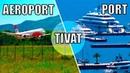 Tivat Muntenegru aeroportul si portul orasului Marea Adriatica 2018