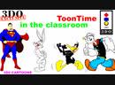 Panasonic 3DO - ToonTime! In the Classroom.[Popeye. Superman. Bugs Bunny. Daffy Duck. Tweety / ЭМУЛ 4DO]16:9/fps50/HD.720.p